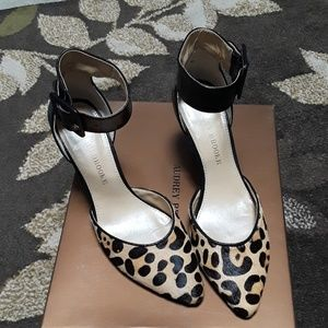 3 inch heel women's black and cheetah print shoes